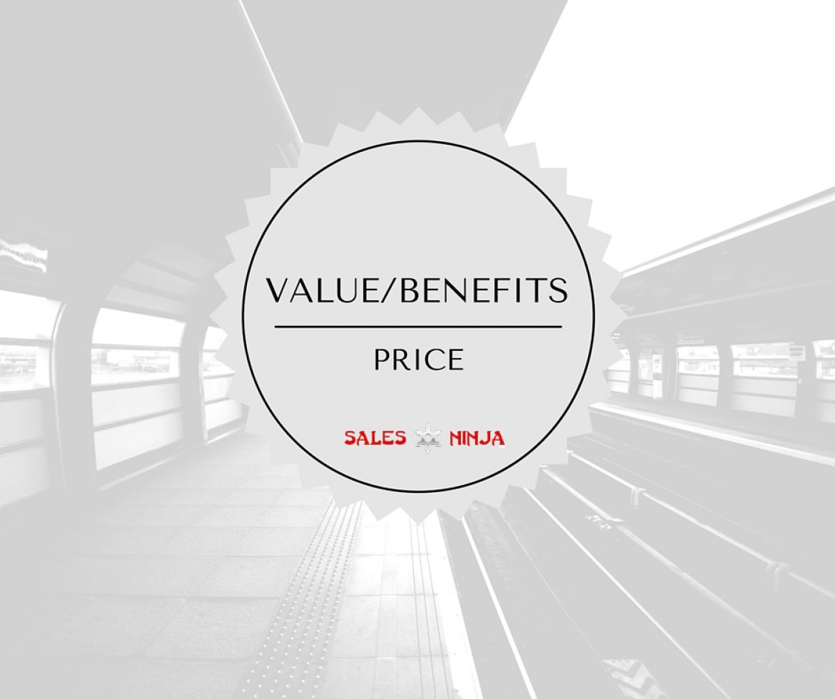 Selling Value instead of price.